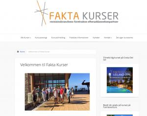 Faktakurser har fået bygget sin hjemmeside i WordPress