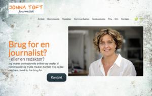 Journalist Jonna Toft har lavet sin hjemmeside i WordPress