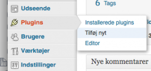 Installer plugin til WordPress