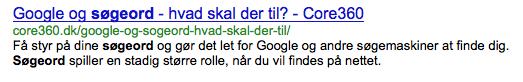 Skriv din egen tekst og søgeord i Google