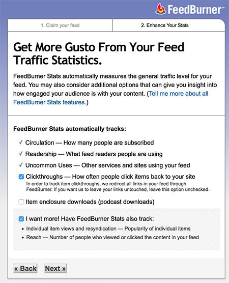 Opret dit RSS feed hos Feedburner